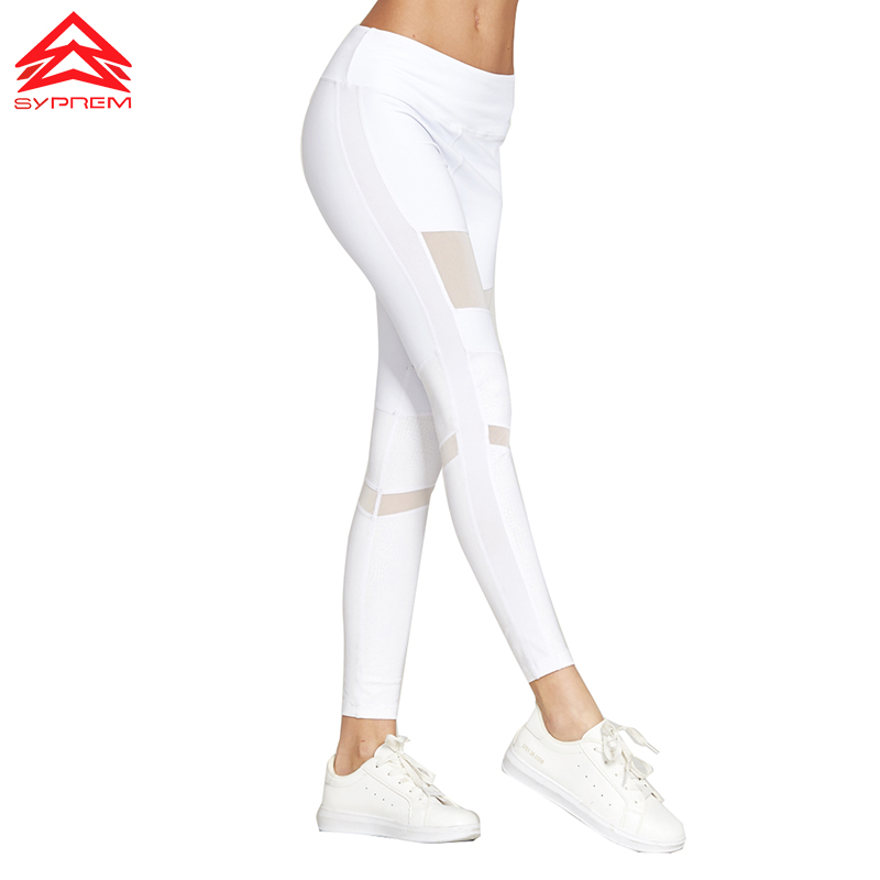 Syprem 2017 Spring Women Sexy Yoga Sports Pants Compression Leggings Hollow Mesh Leggings Gym Skinny Fitness Sportswear, 1FP1014