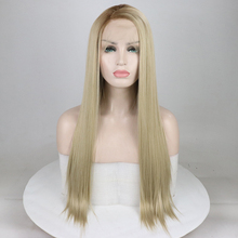 Fantasy Beauty Women's Blonde Ombre Side Part Synthetic Lace Front Wigs