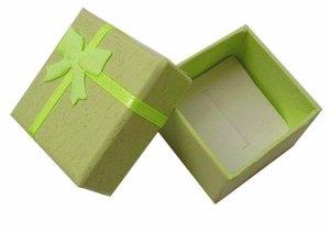 Image 5 - Toptan 48 adet/grup moda mücevher kutusu, çok renkler yüzük kutusu, takı hediye paketleme küpe tutucu durumda 4*4*3CM