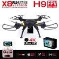 Nueva syma x8w y x8 fpv rc drone con 4 k/1080 p wifi de la cámara dron rc quadcopter 6-axis rtf helicóptero regalo de vacaciones vs jjrc h8c h8