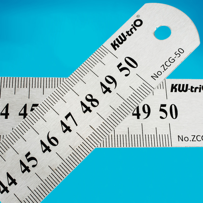1PC Stainless Steel Straightedge Teaching Tools Ruler 15 20 30 50cm Student Drawing Measuring Metal Rulers Quilting Tools