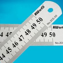 1PC Utensili per la scrittura Straightedge in acciaio inossidabile Righello 15 20 30 50cm Studente che disegna gli strumenti per quilting in metallo