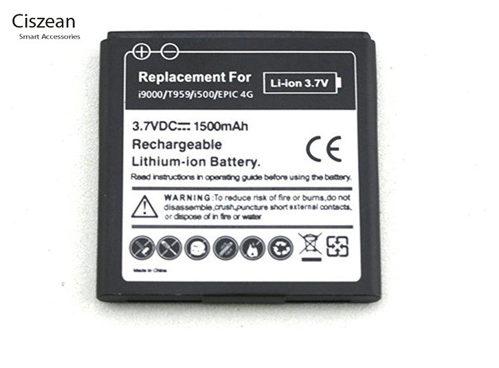 Best Shopper Generic Replacement Battery for Replacement Battery EB575152VU for Samsung Galaxy S I9000 D700 i897 T959