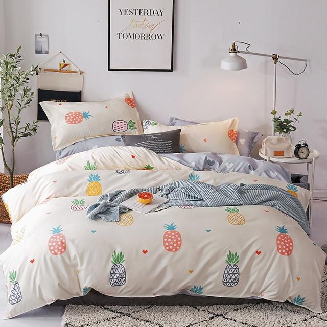 Bonenjoy Single Bed Linen Set Fruit Kids Bedding Sets Queen Size