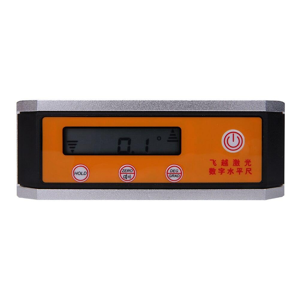 360 degrees Digital Protractor Inclinometer Angle Meter with Magnetic V-Groove Base digital protractor inclinometer angle meter digital bevel box 4 x 90 degree range magnetic base