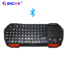 Wholesale Backlight Wireless Bluetooth Keyboard Touchpad Remote Control Mini Keyboard for Android TV for IOS Raspberry Pi 3 PC Laptop