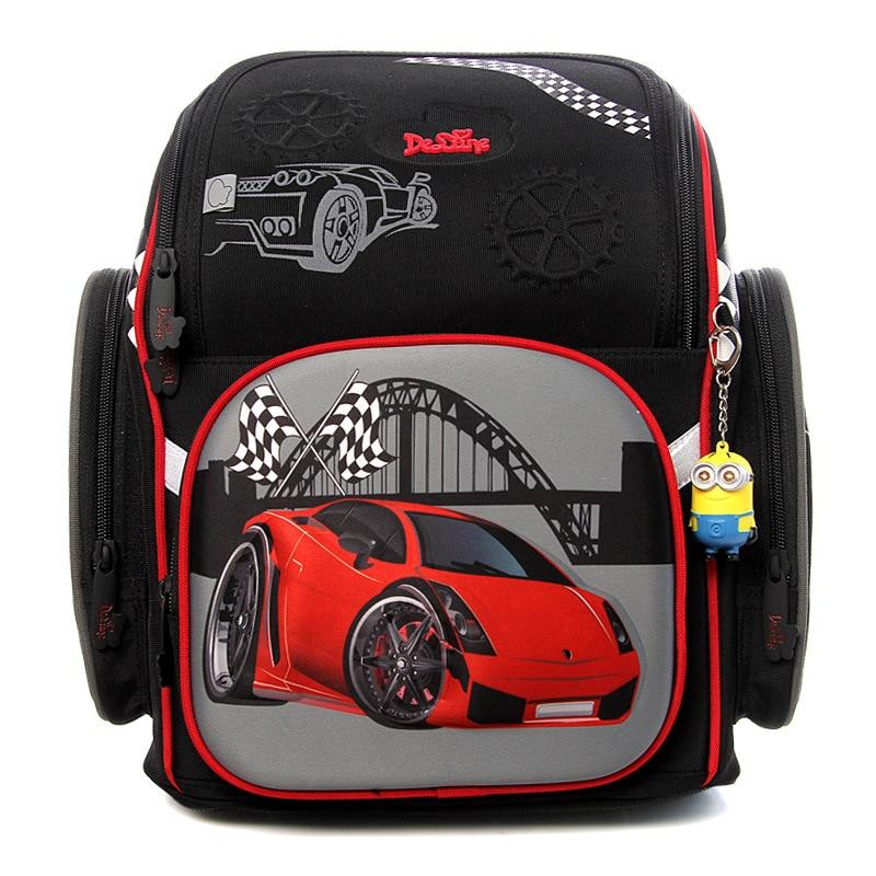 High Quality 3D Racing Cars Children School Bags for Boys Large Capacity Waterproof Orthopedic Backpacks School Mochila Infantil cars for children