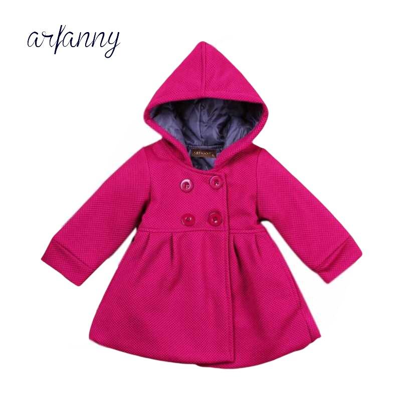 Infant Coat Newborn Jacket Girls Autumn Winter Cotton Lining Jacquard-Folder Female 0-1-2-Year