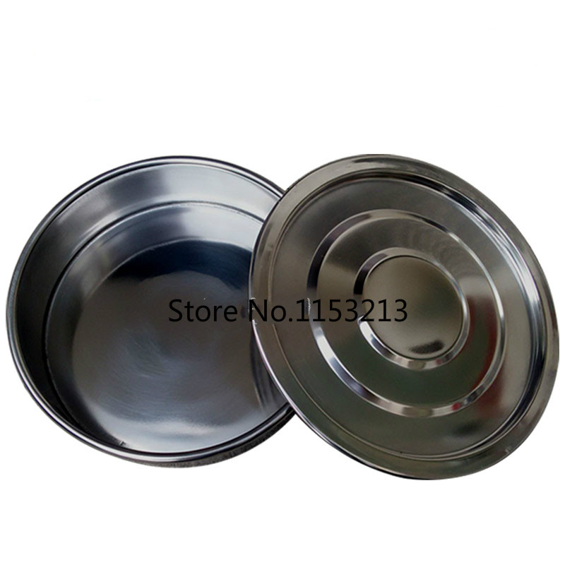 Pan Diameter 20cm Stainless steel base with cover for Standard Laboratory Test Sieve Sampling Inspection Pharmacopeia sieve laboratory rack multi function physical test support stand base 100x100cm stainless steel