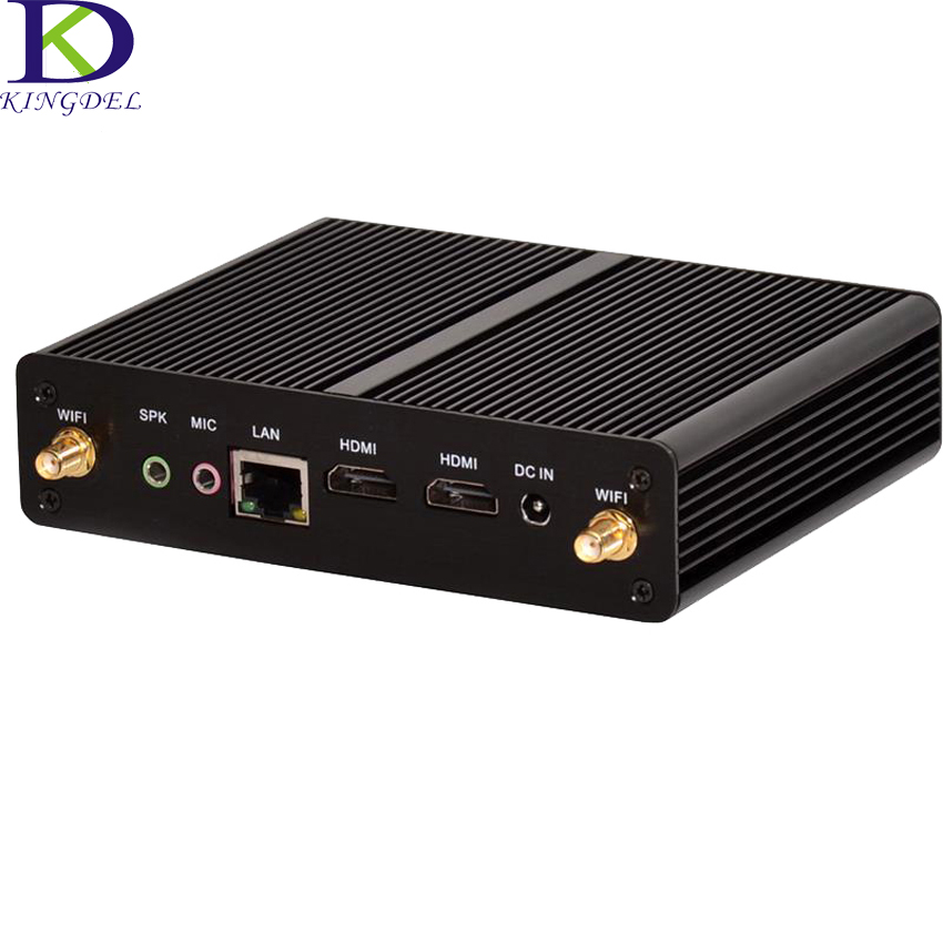 Fanless Mini PC Intel Celeron N2810 Dual Core J1900 Quad Core 2.0GHz Dual HDMI WiFi Dual LAN Box PC Windows7/8/10 Mini Computer ddr4 ram 7th gen kaby lake i7 7500u mini pc windows 10 fanless computer 4k hdmi dp htpc 300m wifi dhl free