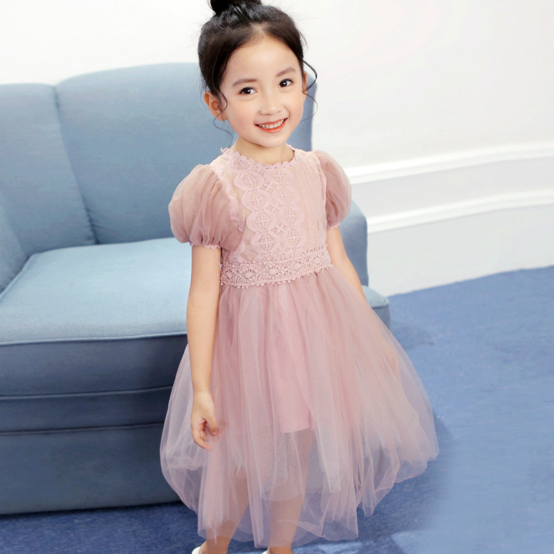Princess Lace   Flower     Girls     Dress   Summer Tutu Wedding Birthday Party   Dresses   for   Girl   Children's Costume Teenager Prom Designs