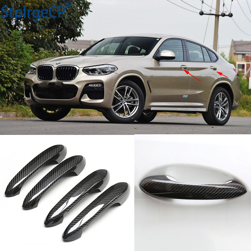 For <font><b>BMW</b></font> <font><b>x4</b></font> x4M G02 M40d xDrive25i xDrive30i <font><b>2019</b></font> 2020 <font><b>Accessories</b></font> 100% real carbon fiber Auto outer door handle cover image