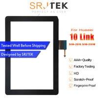 Srjtek para huawei mediapad 10 link S10-231L S10-231U novo preto painel da tela de toque digitador sensor reparação vidro substituição