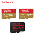 SanDisk Micro SD card 16GB 32GB 64G 128G Extreme Class 10 U1 U3 V30 A1 microSD TF card Support Official Verification for phone