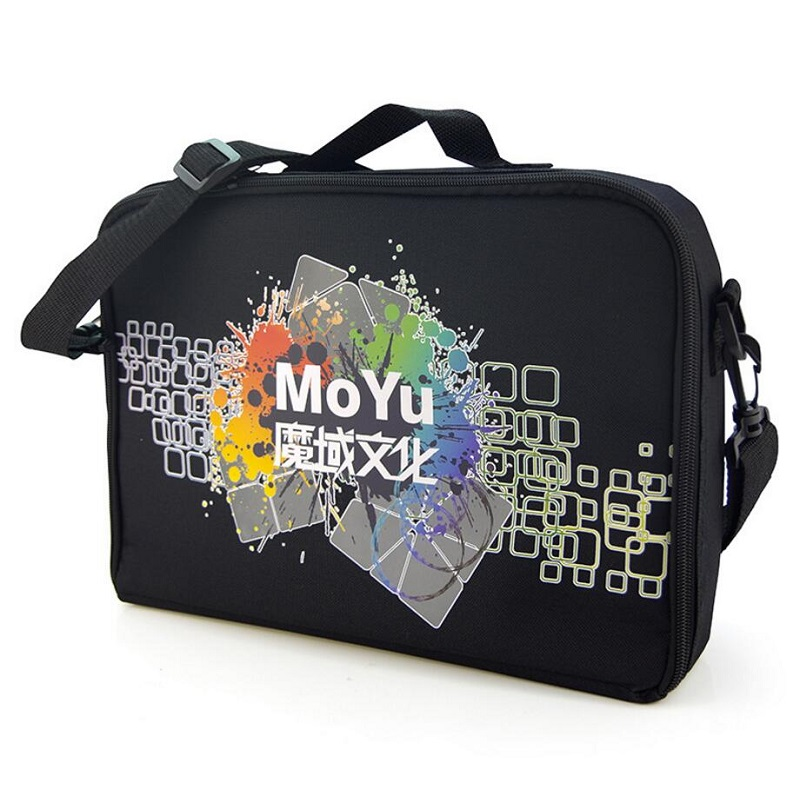 MOYU Neo Cube Bag Black Speed Game Shoulder Bag For Magico Cube 2x2 3x3 4x4 5x5 6x6 7x7 8x8 9x9 Puzzle Cube Toys Storage Bags z cube bundle black knight 2x2 3x3 4x4 5x5 speed cube set cube pack puzzle carbon fiber cube magic fidget toy gift box