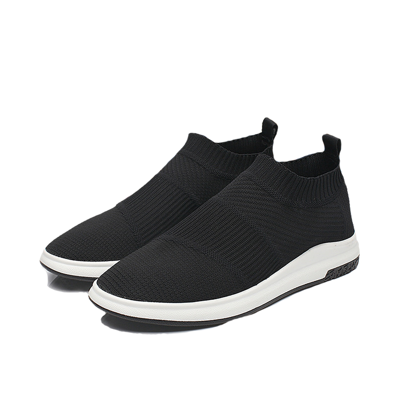 2018 summer new high-top casual shoes Europe / US tide mens shoes flying weave shoes tide shoes ma