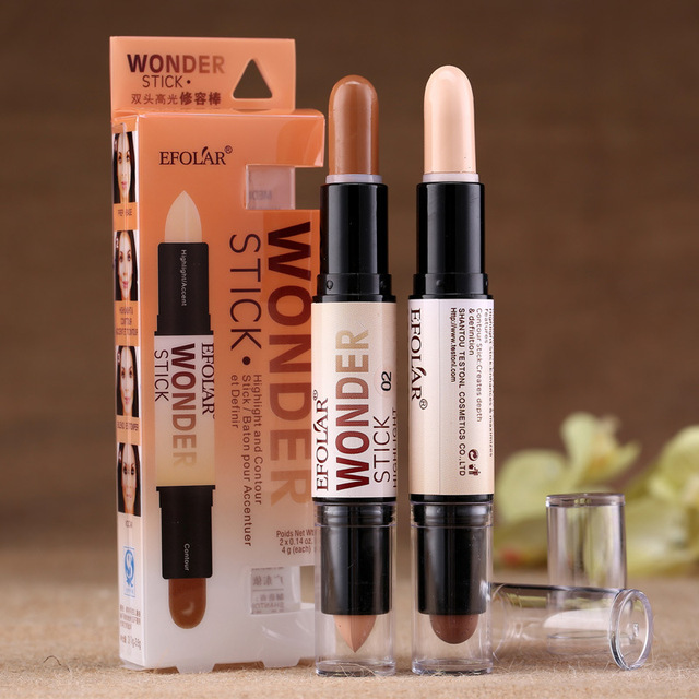 100% Professional Wonder Double End Stick Highlight And Contour Face Makeup Tool Concealer Brighten Cover Dark Circle/Acne 1Pcs