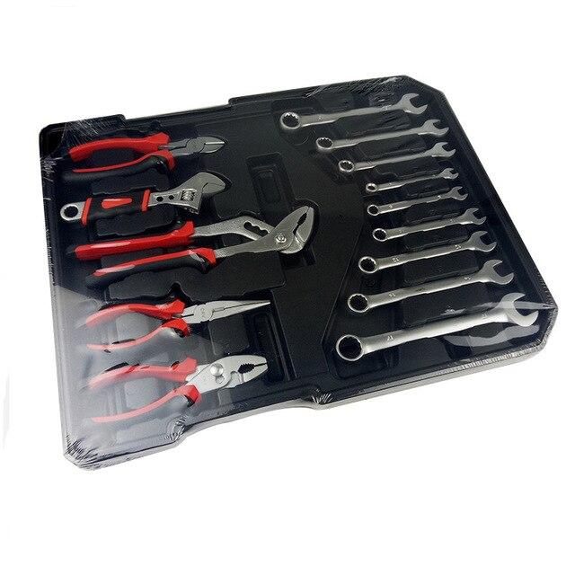 Free shipping 186pcs /set CR-v steel car fix tool household tool set hand tool sets in aluminium alloy draw-bar box 2