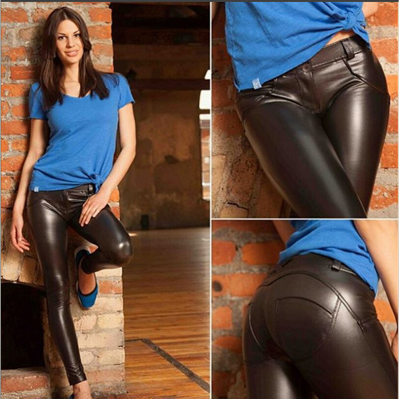 Ductjoe New Women's Leather Leggings For Fitness Winter Trousers Clothes For Women Warm Gothic Pants Plus Size 4 Colors Leggings #4
