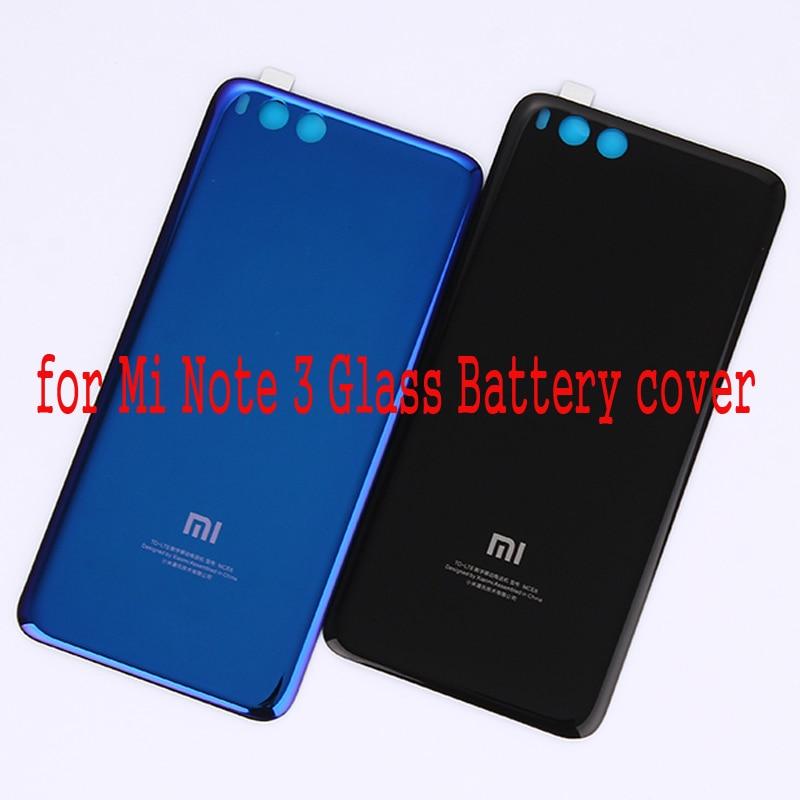 Pour Xiaomi Mi Note 3 Verre Couvercle de La Batterie Porte Couvercle Du Boîtier remplacement Réparation De Pièces De Rechange 3 M Colle pour Mi Note3 couverture Arrière