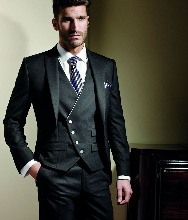 New Collection Slim fit 2018 Charcoal Arabic Wedding Ceremony suit Groom Tuxedos groomsman Bridegroom Suit Jacket+Pants+Tie+Vest