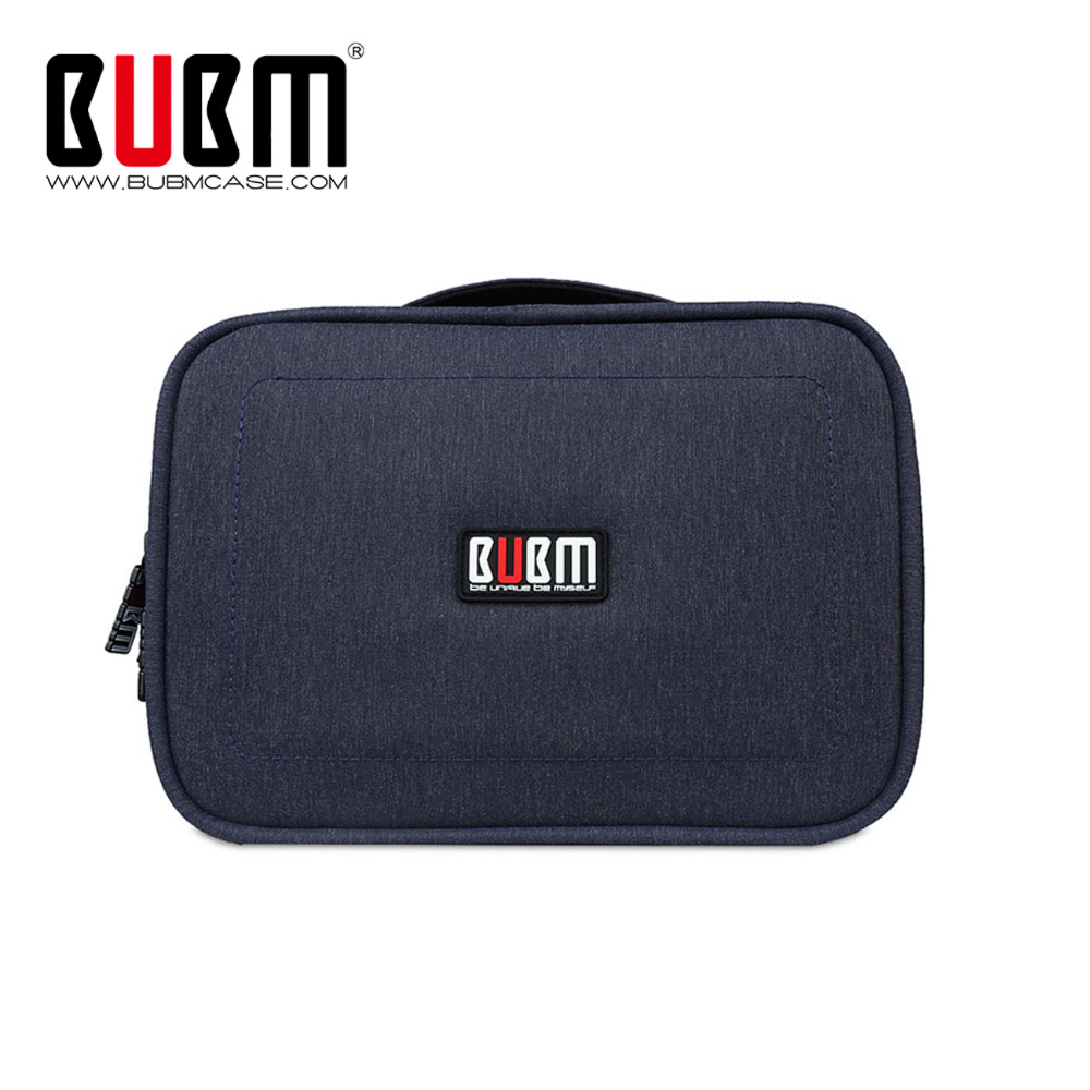 BUBM Multifunction Universal Gadget Organizer Case, Electronics Organizer Digital Storage Bag Toiletries Travel Bag With Handle tartan
