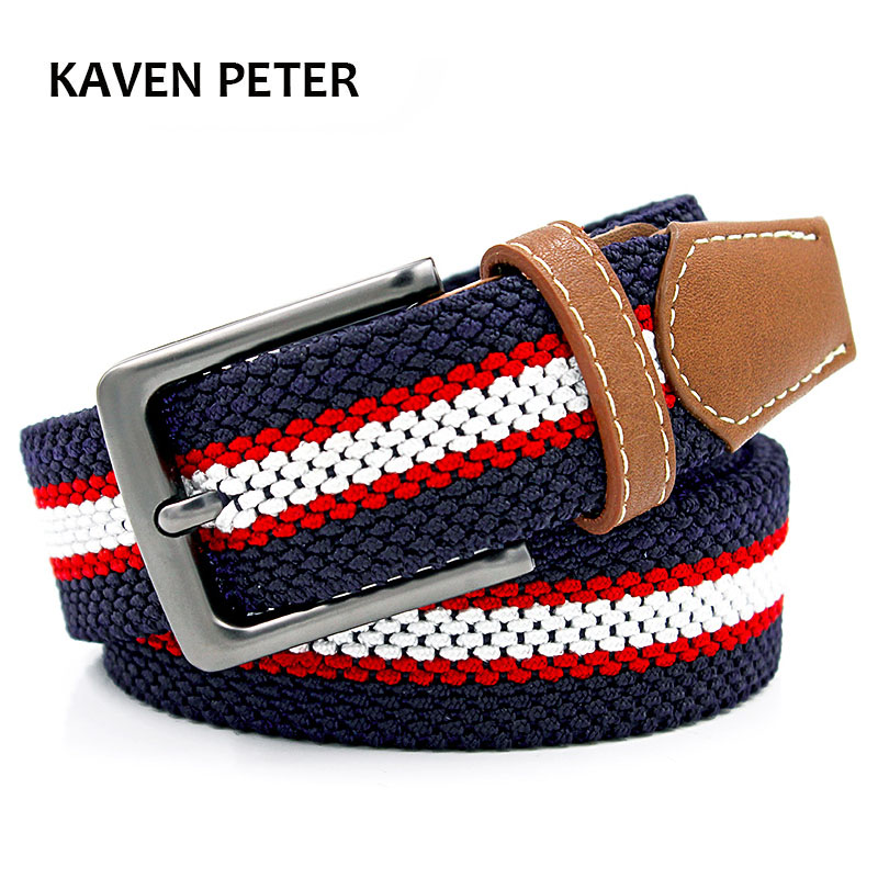Braided Woven Elastic Stretch Belt 1-3/8'' Wide Hot Sales Elastic Belt With Man Style From Factory Direct Sales Free Shipping