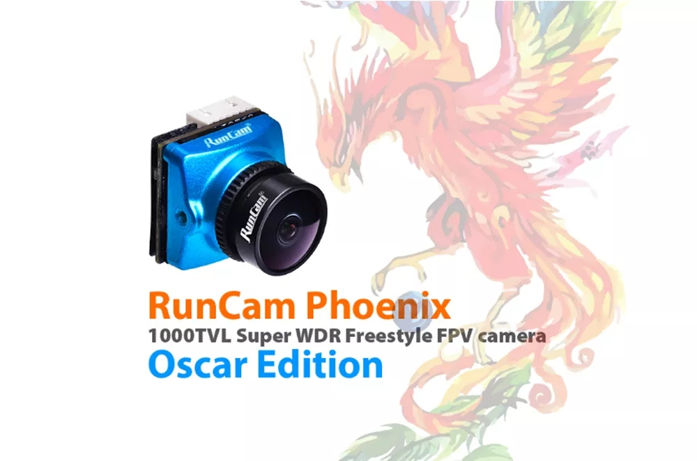RunCam Phoenix Oscar Edition 1000tvl 1 3 Super 120dB WDR Mini FPV Camera Support OSD FC