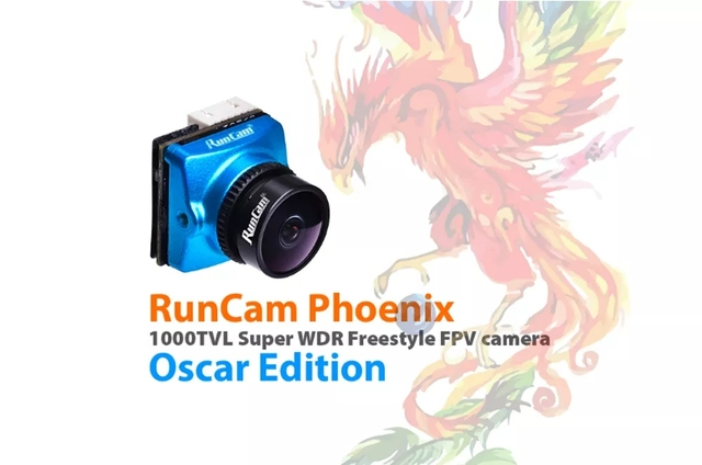 Runcam phoenix oscar edition 1000tvl 1/3 super 120db wdr mini câmera fpv suporte osd fc controle para rc racing drone 2.1mm