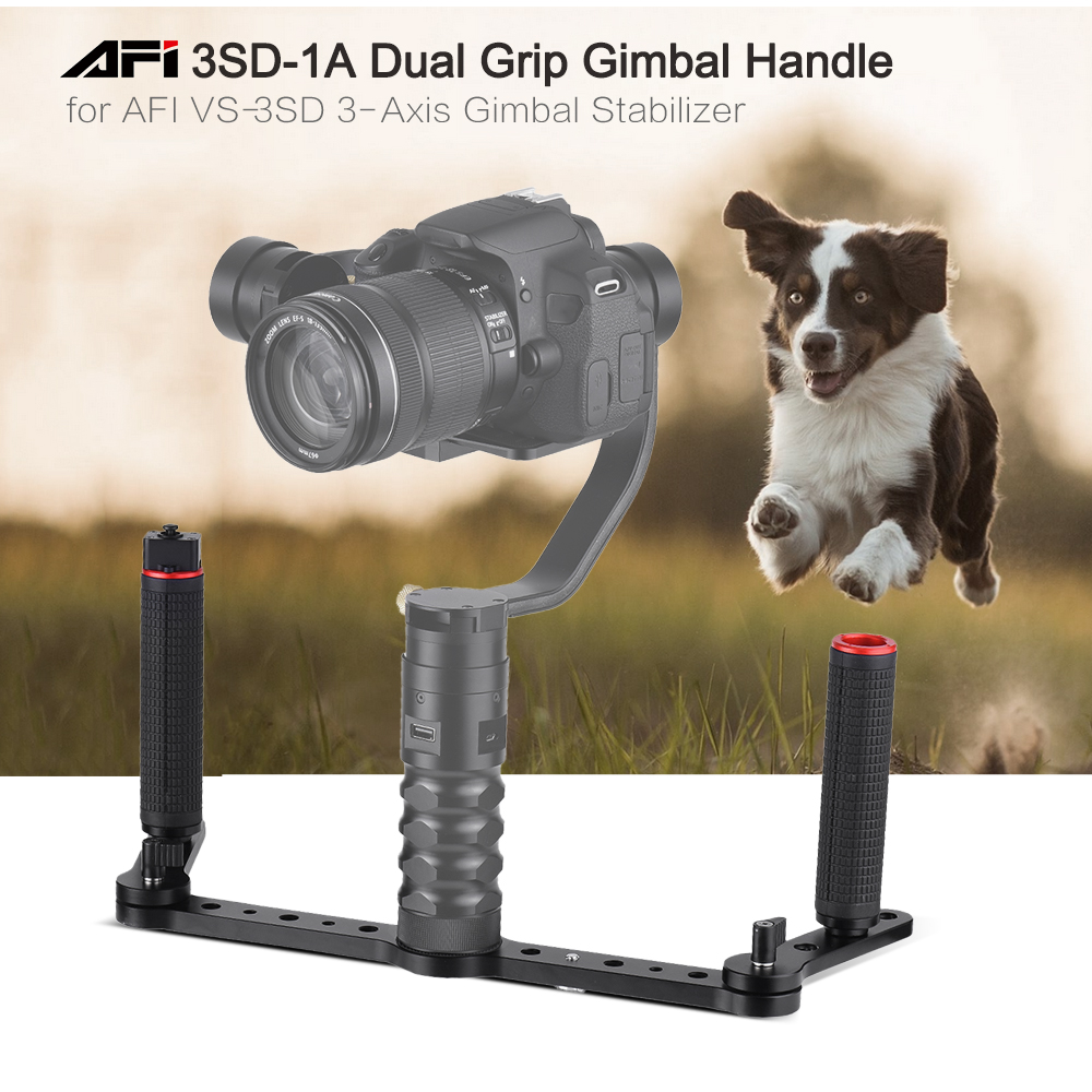 AFI 3SD 1A Dual Grip Gimbal Handle with Joystick Control Aluminum Alloy Material for AFI VS 3SD 3 Axis Gimbal Stabilizer in Gimbal Accessories from Consumer Electronics
