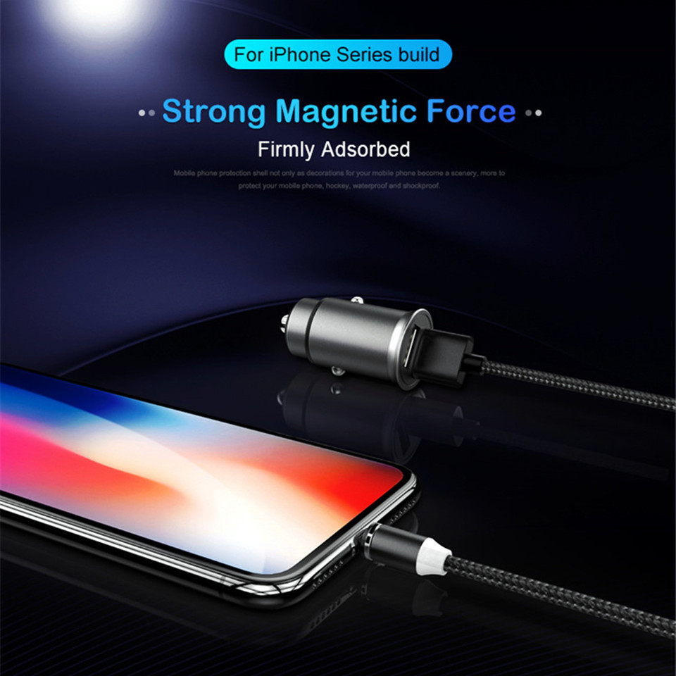 LED Light Magnetic Usb Charging Cable Micro Usb Type C For Lighting Magnet Fast Charger Wire For iphone Samsung Redmi Note 7 8 5