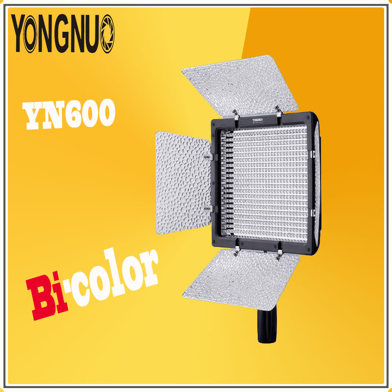 YONGNUO <font><b>YN600L</b></font> YN600 LED Video Light Lamp 3200K-5500K Bi-color Temperature & Adjustable Brightness photographic studio lighting image