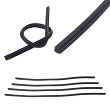 "18"" 22"" 24"" 26"" Universal Car Vehicle Refill Rubber 8mm Frameless Wiper Blade Replace Black Rubber"