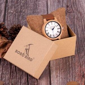 Image 5 - BOBO BIRD Q15 คลาสสิกหนังไม้นาฬิกาควอตซ์นาฬิกาสำหรับคนรัก reloj pareja hombre y mujer