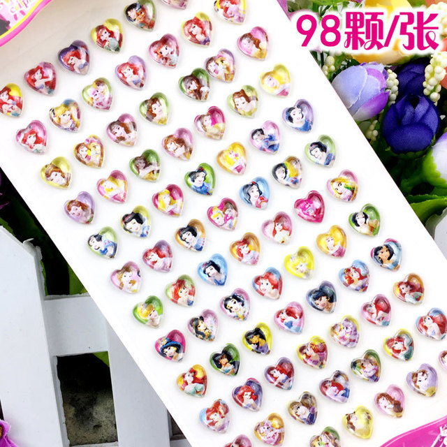 84pcs/lot Children's cartoon resin rhinestone stickers kindergarten reward gem stickers diy  acrylic eyebrow paste 1