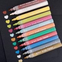STA 28 Colores de Acrílico A Prueba de Marcadores de la Pintura a Base de Agua de Dibujo DIY Pluma De Pintura Permanente para el Lienzo De Papel de Metal De Plástico etc.