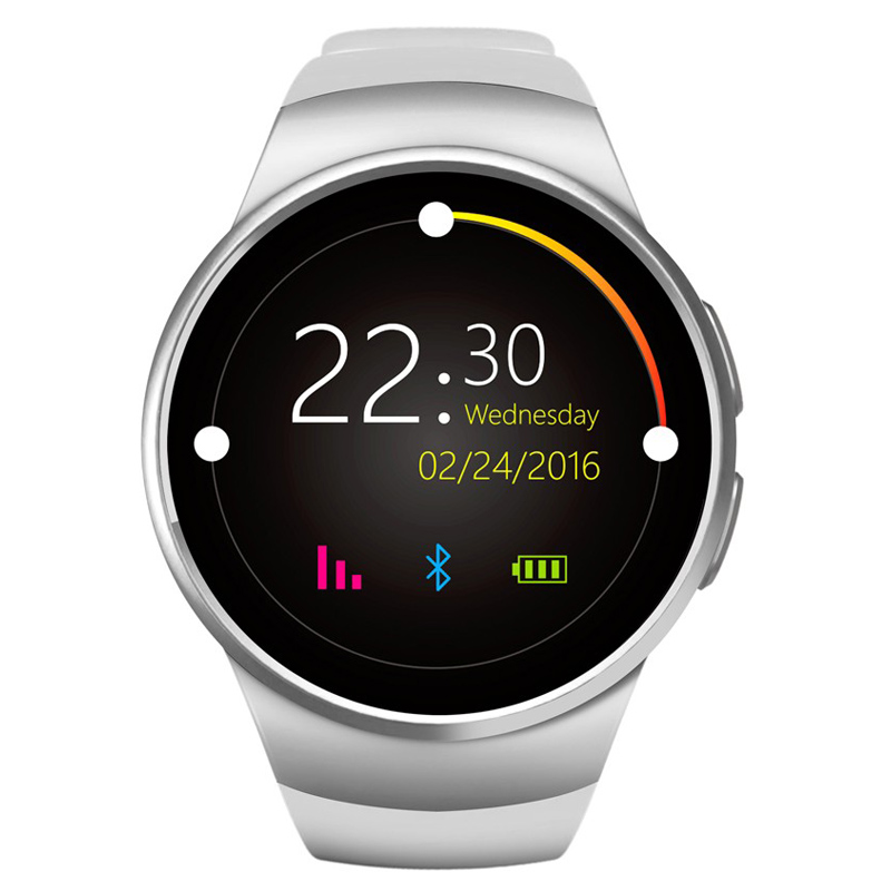 imágenes para KW18 1.3 pulgadas IPS Pantalla Táctil de Apoyo Reloj Inteligente Bluetooth SIM TF Tarjeta de Llamada Respuesta Mensaje Push Monitor de Ritmo Cardíaco
