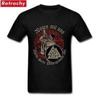 Hommes Wotan Mit Uns T de Chemises Hommes Manches Courtes Viking T-shirts Surdimensionné Loisirs De Base Graphique Fraîche T-shirts