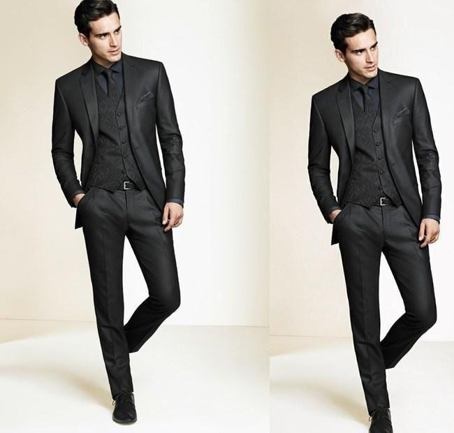Black and white coat pant