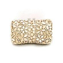 Nigeria Bridal Wedding Party Vrouwen Avond Party Bag Diamanten Luxe Bloem Gem Crystal Koppelingen Elegante Opaal Stenen Portemonnees