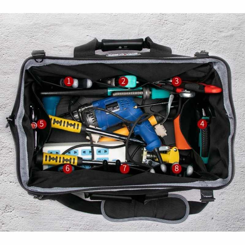 """Переносной кейс для инструмента сумки 13 """"16"""" 18 """"20"""" 1680 D ткань Оксфорд водонепроницаемый ящик для инструментов большой емкости Электрический ящик для инструментов сумка"""