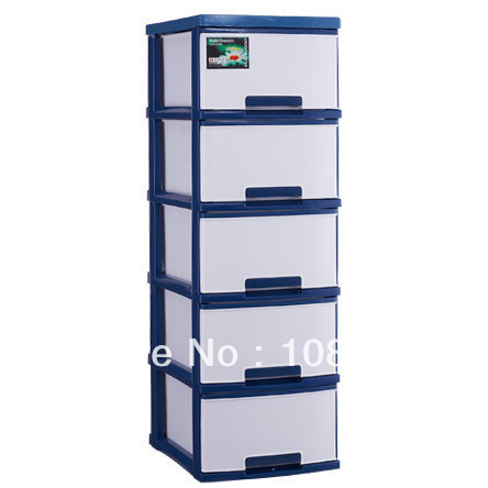 13 X 17 X 42.5 Inches Wide Cart Drawer Cabinet 5 Layers With Removable Plastic  Storage