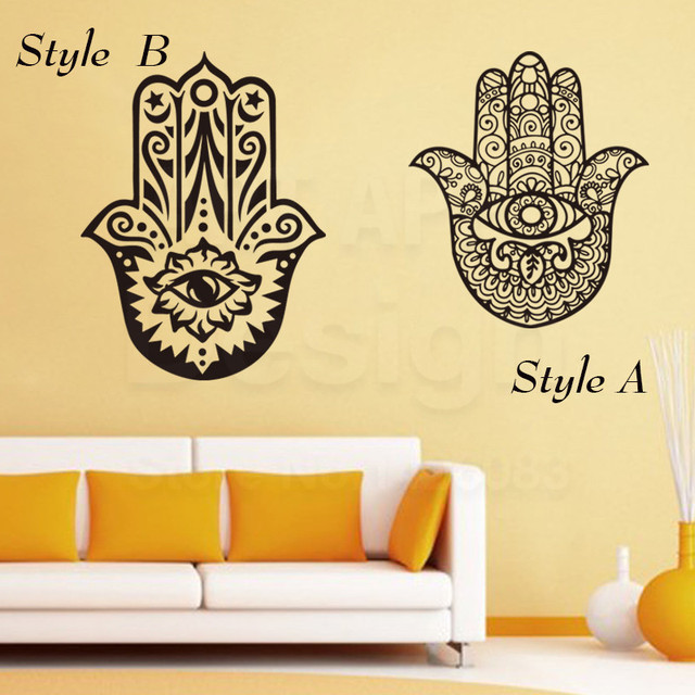 Art colorful Design house decor Vinyl Fatima Hamsa Hand Wall sticker ...