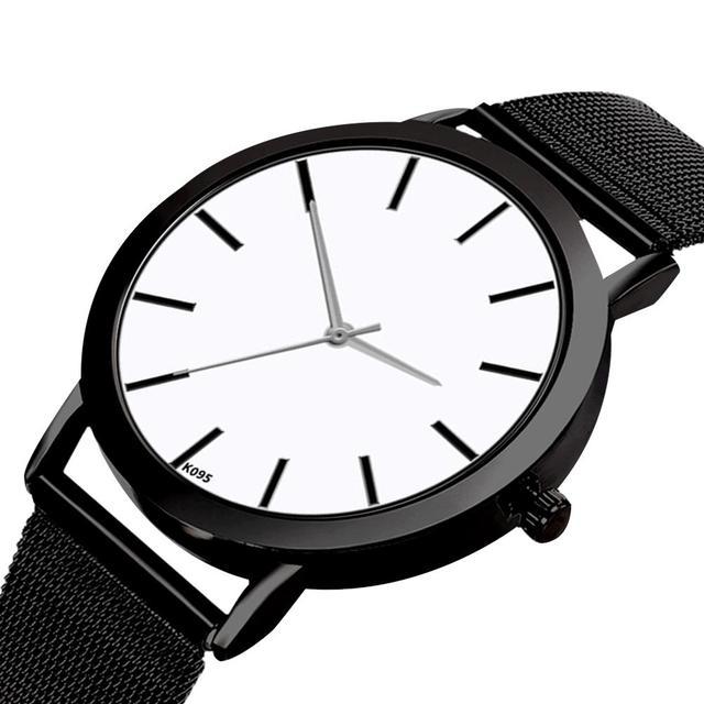 Women Simple Slim Quartz Watch Gold Steel Mesh Ultra Thin Women Watches Luxury Brand Female Wrist Watch Golden Clock