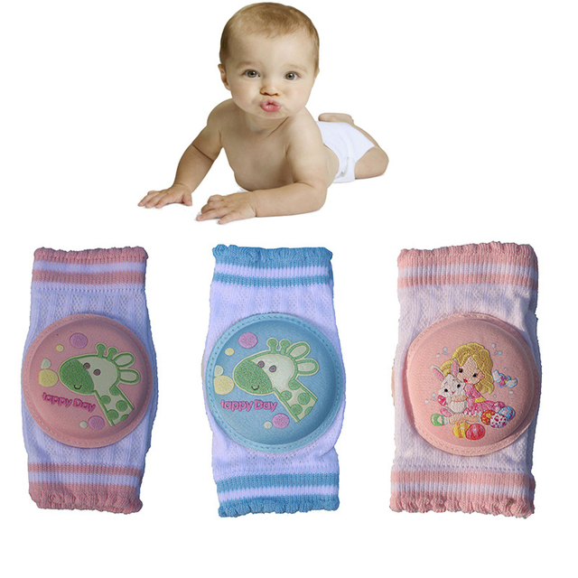 1Pair Baby Kneepad Cute Animal Cartoon Children Knee Pads Doll Learn To Walk Best Protection 2019 Cotton Harnesses Leashes