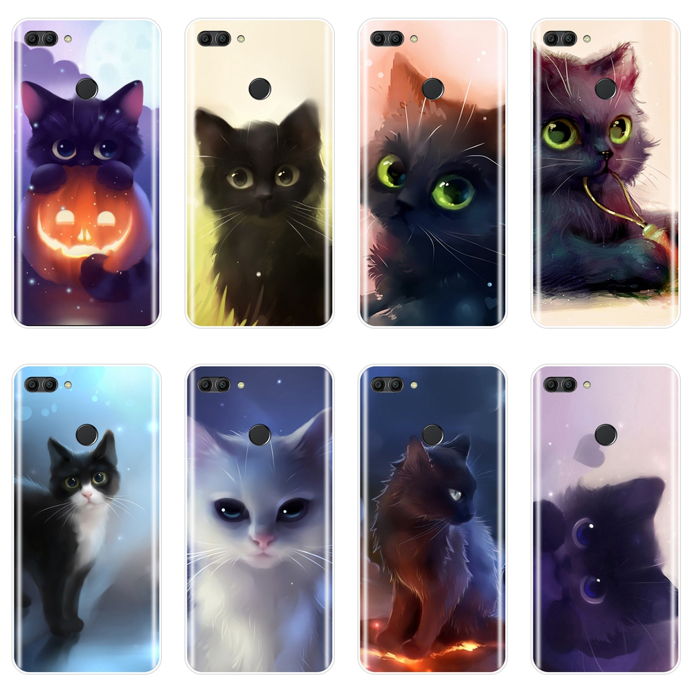 Cute <font><b>Cat</b></font> Cartoon Phone <font><b>Case</b></font> For <font><b>Huawei</b></font> Y5 Y6 <font><b>Y7</b></font> Prime 2018 Y9 <font><b>2019</b></font> Silicone Soft Back Cover For <font><b>Huawei</b></font> Y3 Y5 Y6 II 2017 Pro <font><b>Case</b></font> image
