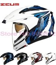 2016 Последним ЗЕВС модульная ZS-613B двумя объективами мотокросс off road мотоциклетный шлем спортивный автомобиль гонки по бездорожью шлемы, изготовленные из ABS
