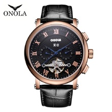 New Men Watches Automatic Mechanical Watch Tourbillon Sport Clock Leather Casual Business Retro Wristwatch Relojes Hombre цена в Москве и Питере