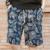 2017 dos homens do verão da cópia da flor Na Altura Do Joelho shorts dos homens finos calções de praia masculino de linho solto fora calções casuais