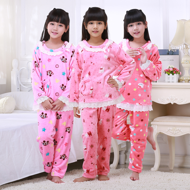new listing childrens christmas gift girls kids clothing sets kids suits 2 pcs sleepwear long sleeve - Children Christmas Pictures 2